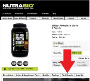NutraBio Protein Lab Test