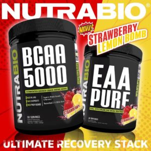 NutraBio Strawberry Lemon Bomb BCAA 5000