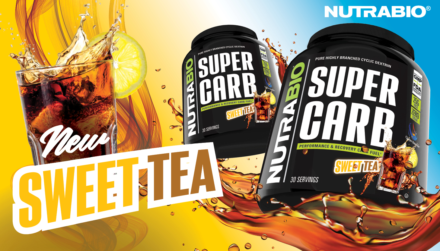 NutraBio Super Carb Now Comes In Refreshing Sweet Tea
