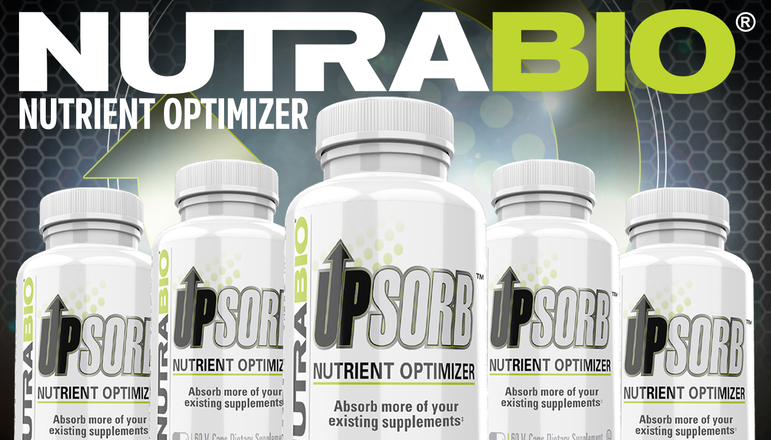 NutraBio UpSorb: Make Your Supplements Stronger with AstraGin and BioPerine!