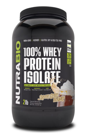 NutraBio Whey Isolate Root Beer