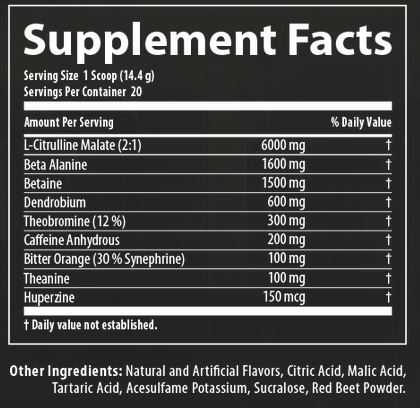 Nutrabolics Supernova Ingredients