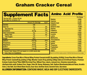 NutraOne Protein Creations Ingredients