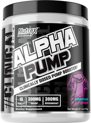 Nutrex ALPHA PUMP: A Lower-Cost, Stackable Stim-Free Pump Chaser!