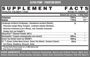 Nutrex Alpha Pump Ingredients