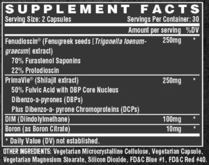 Nutrex Alpha-T Ingredients