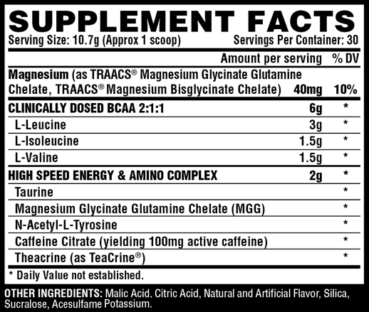 Nutrex Amino Charger +Energy Ingredients