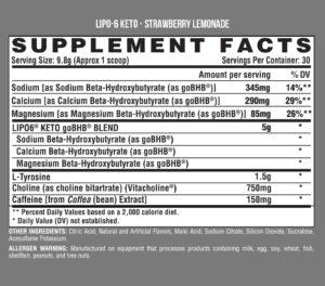 Nutrex Lipo-6 Ingredients