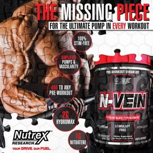 N-Vein is stimulant and flavor free making it the perfect addition to any pre workout or for use as your only pre workout