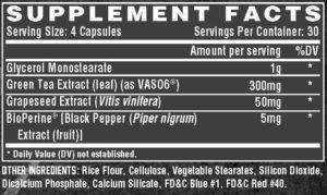 Nutrex NIOX Ingredients