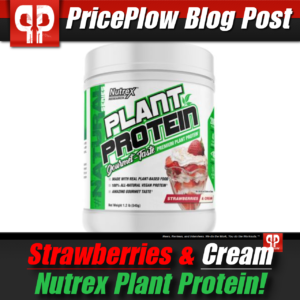 Nutrex Plant Protein Strawberries & Cream PricePlow