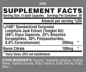Nutrex Tested Ingredients