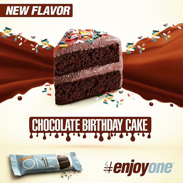 Ohyeah One Bar Chocolate Birthday Cake New