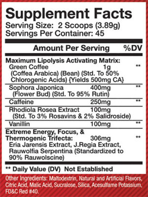 Olympus Labs BloodShr3d Ingredients
