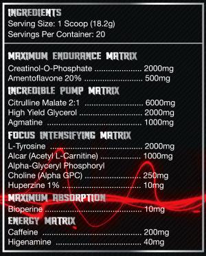 Olympus Labs Conqu3r Demigod Edition Ingredients
