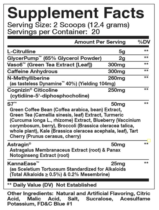 Olympus Labs Levels Ingredients