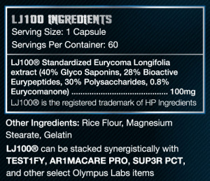 Olympus Labs LJ100 Ingredients