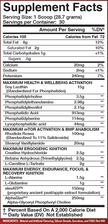 Olympus Labs TR1UMPH Ingredients