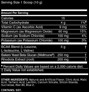 Optimum Nutrition Gold Standard BCAA Ingredients