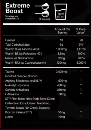 Outbreak FPS Ingredients