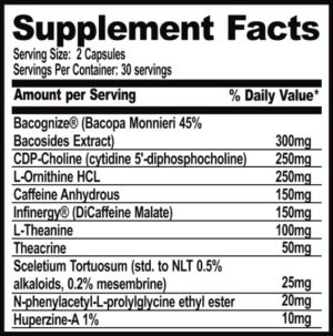 Performax Labs NootropiMax Ingredients