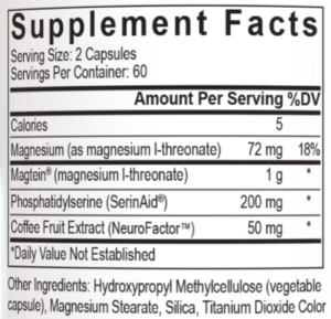 PEScience TruNeuro Ingredients