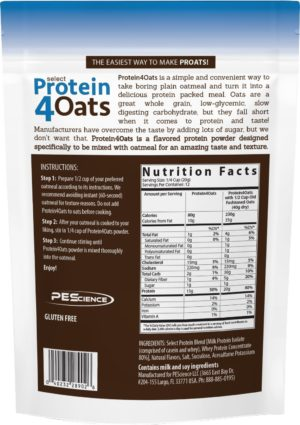 PEScience Select Protein 4 Oats Vanilla Label