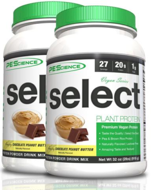 PEScience Select Vegan Protein Chocolate Peanut Butter Duo