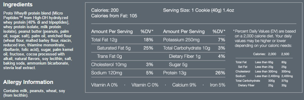 Power Crunch Bar Ingredients