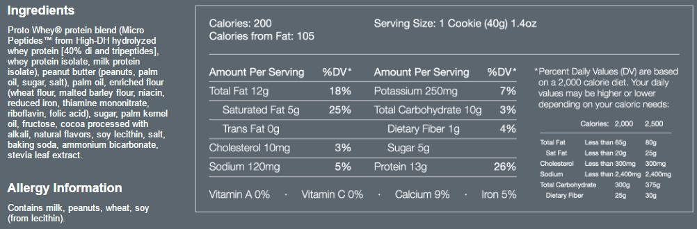 Power Crunch Bar Ingredients