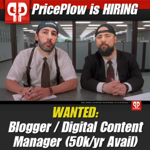 PricePlow is HIRING a Digital Content Manager / Researcher / Writer / Blogger!