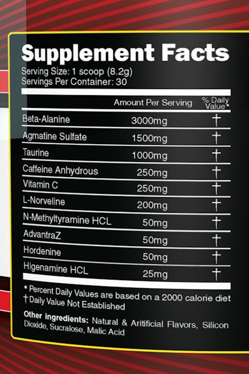 Primeval Labs Adrenal Rush V2 Ingredients