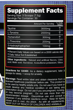 Primeval Labs BIOS3 Xanix Ingredients