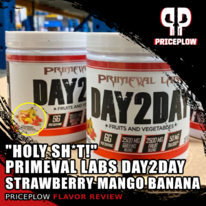 """""""HOLY SH*T"""" – Primeval Labs Day2Day Strawberry Mango Banana Review"""