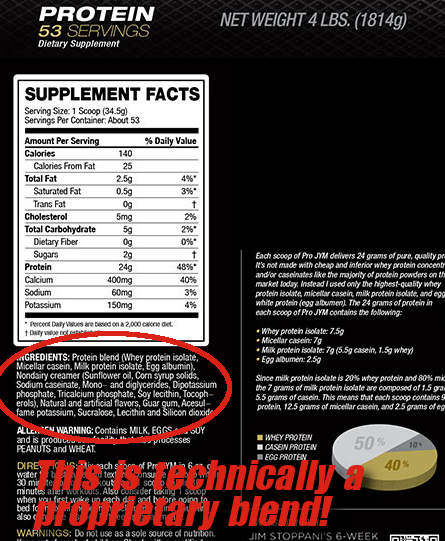 Pro JYM is technically a proprietary blend