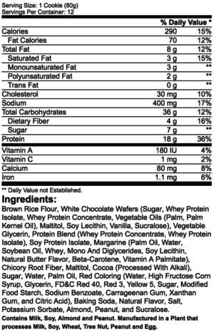 ProSupps MyCookie Ingredients