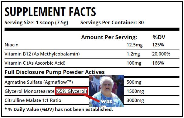 Incorrect Label for Pump Powder