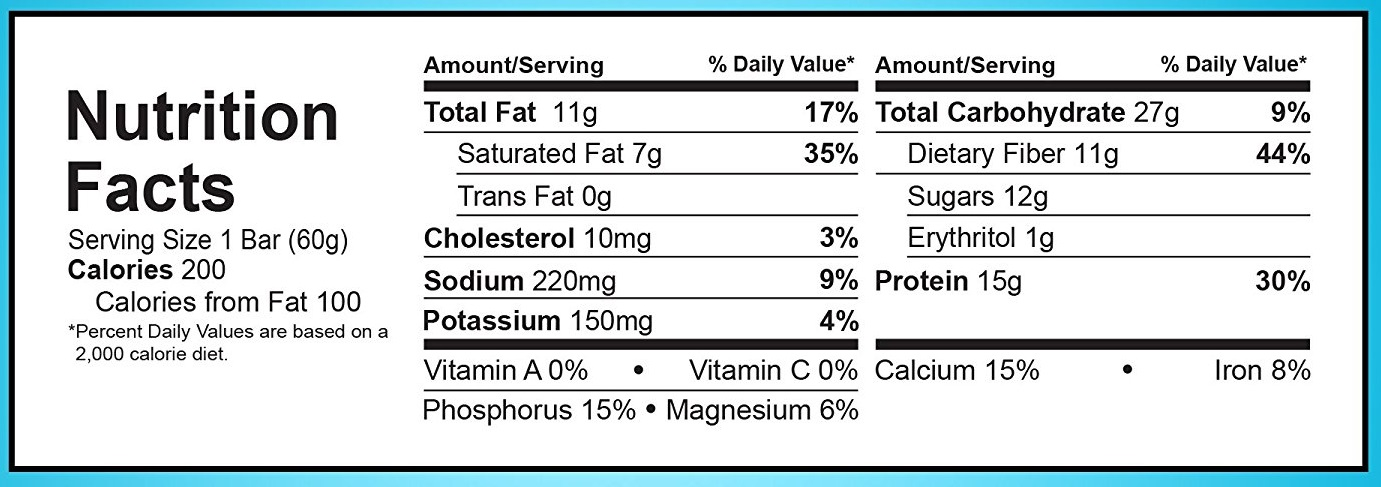 Nutrition Facts For Quest Bars Blog Dandk