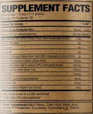 RAW Burn Ingredients