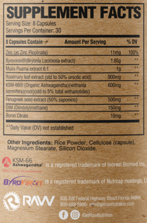 Raw Nutrition Test Ingredients