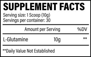 Revive MD Glutamine Ingredients