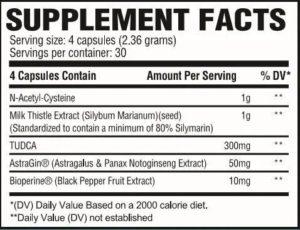 Revive MD Liver Ingredients