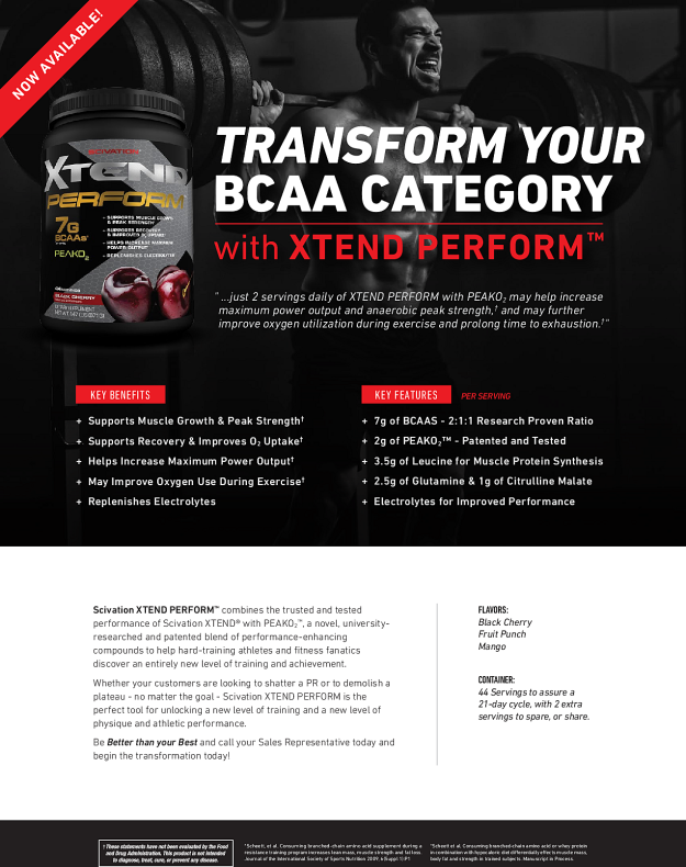 Scivation Xtend Perform Datasheet