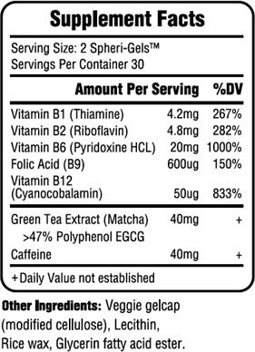 sho Nutrition Energy+ Ingredients