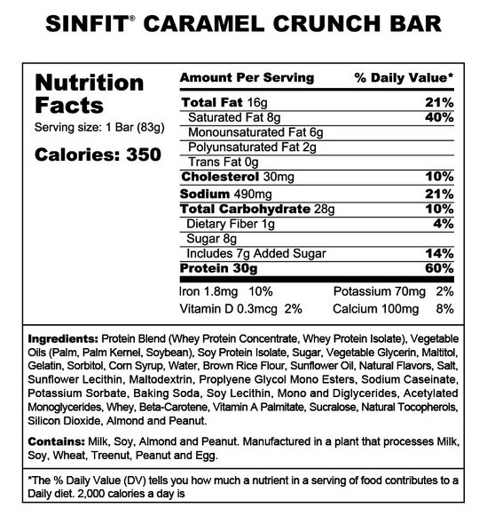 Sinister Labs Caramel Crunch Protein Bar Review