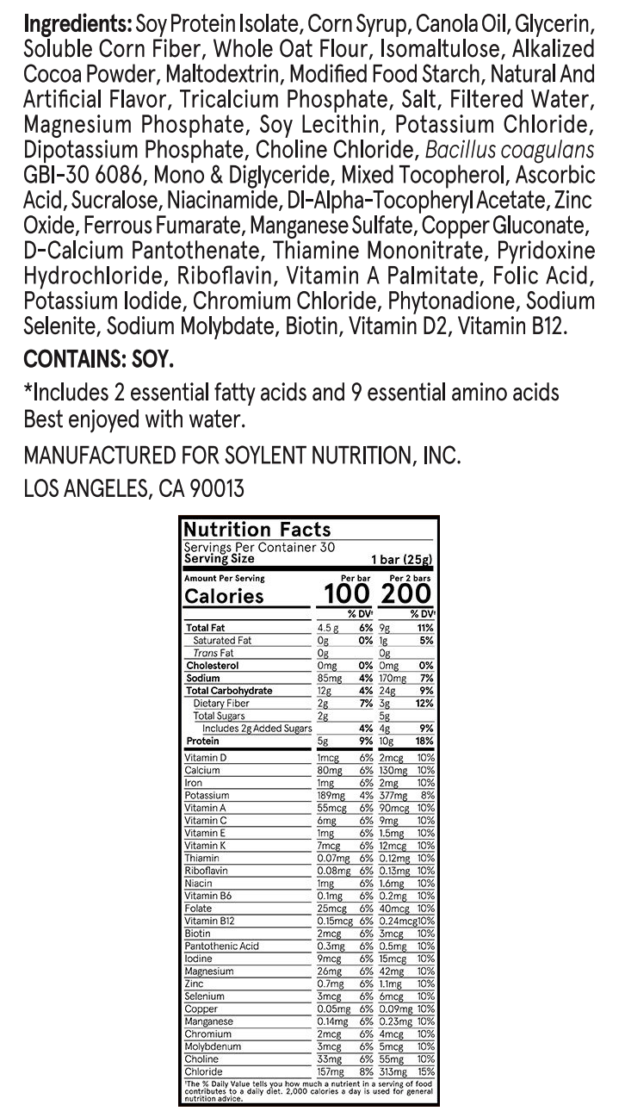 Soylent Squared Ingredients