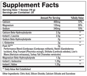 Sparta Nutrition Keto BCAA Ingredients