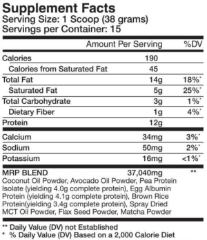 Sparta Nutrition Keto MRP Ingredients
