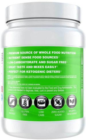 Sparta Nutrition Keto MRP Label