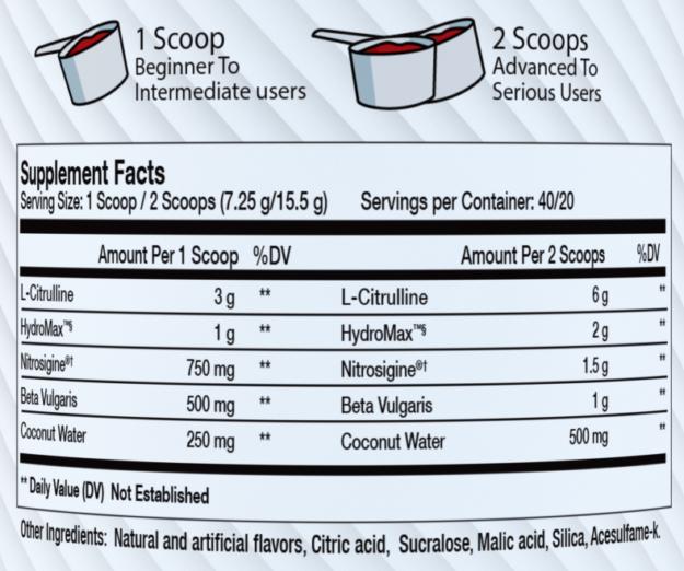 Sparta Nutrition Kraken Pump Ingredients